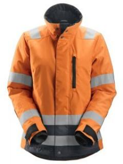 Snickers 1137 AllroundWork, High-Vis 37.5® Isolerend Damesjack Klasse 2/3 - High Vis Orange