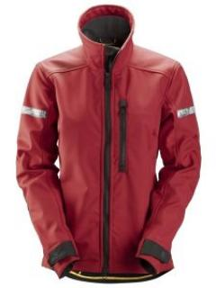 Snickers 1207 AllroundWork, Softshell Damesjack - Chili Red