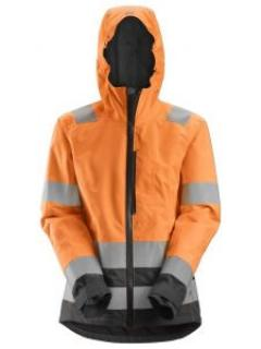 Snickers 1347 AllroundWork, High-Vis Waterproof Shell Damesjack Klasse 2/3 - High Vis Orange