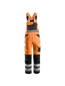 Snickers 0113 High Visibility Bib & Brace Klasse 2 - High Vis Orange/Muted Black