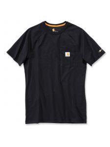 Carhartt 100410 Force T-Shirt Cotton k/m - Black