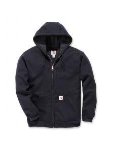 Carhartt 100632 Rutland Thermal Lined Zip Front Sweatshirt - Black