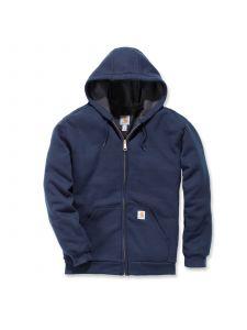 Carhartt 100632 Rutland Thermal Lined Zip Front Sweatshirt - New Navy