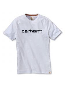 Carhartt 102549 Force Cotton Delmont Graphic Korte Mouw T-Shirt - White