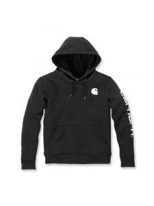 Carhartt 102791 Clarksburg l/sHooded Sweatshirt - Black