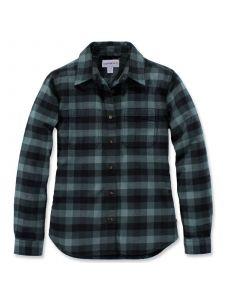Carhartt 103226 Women's Hamilton Flannel Shirt - Balsam Green