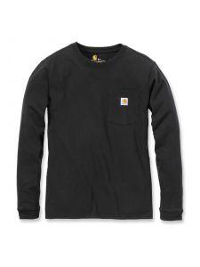 Carhartt 103244 Women's Pocket T-Shirt l/m - Black