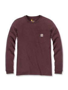 Carhartt 103244 Women's Pocket T-Shirt l/m - Deep Wine