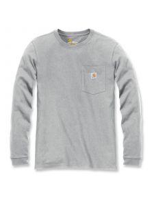 Carhartt 103244 Women's Pocket T-Shirt l/m - Heather Grey