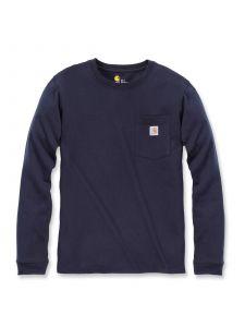 Carhartt 103244 Women's Pocket T-Shirt l/m - Navy