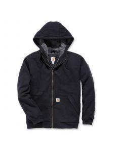 Carhartt 103308 Sherpa-Lined Midweight Full-Zip Sweatshirt - Black