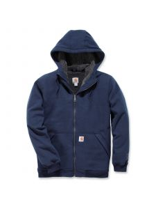 Carhartt 103308 Sherpa-Lined Midweight Full-Zip Sweatshirt - New Navy