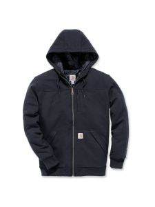 Carhartt 103312 Rockland Quilt-Lined Full-Zip Hooded Sweatshirt - Black