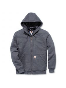 Carhartt 103312 Rockland Quilt-Lined Full-Zip Hooded Sweatshirt - Carbon Heather