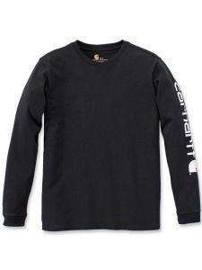 Carhartt 103401 Sleeve Logo T-Shirt l/m - Black