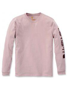 Carhartt 103401 Sleeve Logo T-Shirt l/m - Rose Smoke Heather