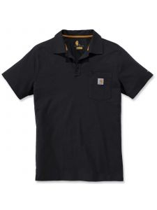 Carhartt 103569 Force® Cotton Delmont Pocket Polo - Black