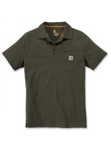 Carhartt 103569 Force® Cotton Delmont Pocket Polo - Moss