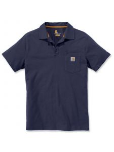 Carhartt 103569 Force® Cotton Delmont Pocket Polo - Navy