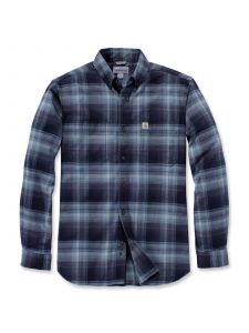 Carhartt 103820 Rugged Flex® Hamilton Plaid l/s Shirt - Navy