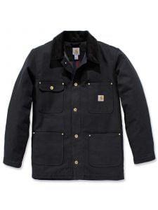 Carhartt 103825 Firm Duck Chore Coat - Black