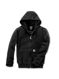 Carhartt 104050 Duck Hooded Active Jacket - Black