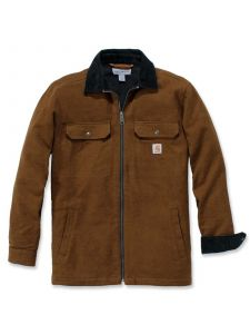 Carhartt 104074 Pawnee Zip Shirt Jacket - Oiled Walnut
