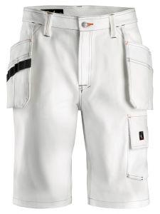 Snickers 3075 Schilder's Shorts met Holsterzakken - White