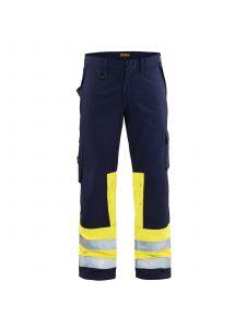 Multinorm Trouser 1478 Marine/High Vis Geel - Blåkläder