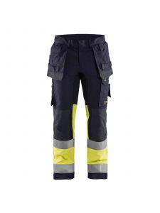 Trouser Multinorm Inherent With Stretch 1487 Marine/High Vis Geel - Blåkläder