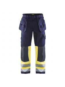 Multinorm Craftsman Trouser 1479 Marine/High Vis Geel - Blåkläder