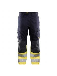 Multinorm Trouser Inherent 1488 Marine/High Vis Geel - Blåkläder