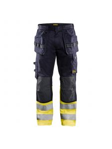 Multinorm Trouser Inherent 1489 Marine/High Vis Geel - Blåkläder
