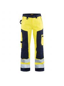 Multinorm Craftsman Trouser 1578 High Vis Geel/Marineblauw - Blåkläder
