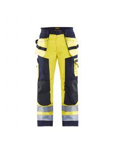 Multinorm Craftsman Trouser 1579 High Vis Geel/Marineblauw - Blåkläder