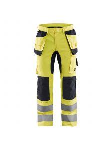 Trouser Multinorm Inherent With Stretch 1587 High Vis Geel/Marineblauw - Blåkläder