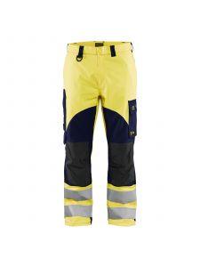 Multinorm Trouser Inherent 1588 High Vis Geel/Marineblauw - Blåkläder