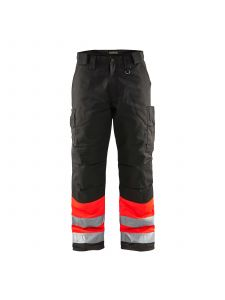 Winter Trouser High Vis 1862 High Vis Rood/Zwart  - Blåkläder