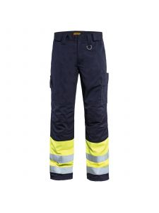Multinorm Winter Trouser 1869 Marine/High Vis Geel - Blåkläder