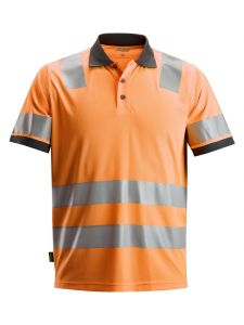 Snickers 2730 AllroundWork, High-Vis Poloshirt Klasse 2 - High Vis Orange