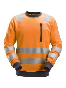 Snickers 8037 AllroundWork, High-Vis Sweatshirt Klasse 2/3