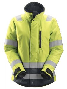 Snickers 1137 AllroundWork, High-Vis 37.5® Isolerend Damesjack Klasse 2/3 - High Vis Yellow/Steel Grey