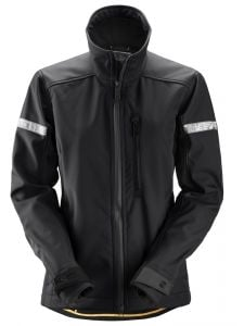 Snickers 1207 AllroundWork, Softshell Damesjack - Black