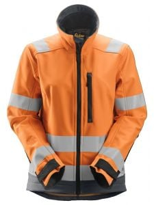 Snickers 1237 AllroundWork, High-Vis Softshell Damesjack Klasse 2/3 - High Vis Orange