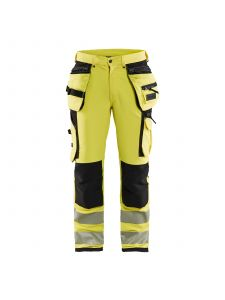 High Vis Trouser 4-Way Stretch 1997 High Vis Geel/Zwart - Blåkläder