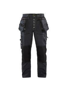 Blåkläder 1999-1141 Work Trousers Baggy Denim Stretch - Navy Blue