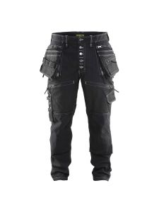 Blåkläder 1999-1141 Work Trousers Baggy Denim Stretch - Black