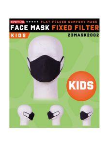Herock Mondkapje met vast filter voor Kids - Black (wasbaar)