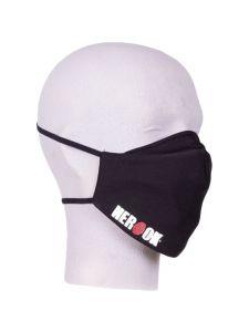 Herock Mondkapje met vast filter en Herock logo - Black (wasbaar)