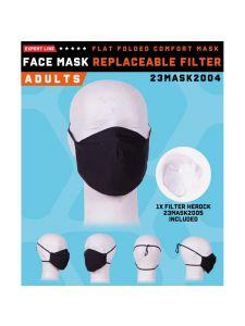 Herock Mondkapje met uitneembaar filter - Black (wasbaar)